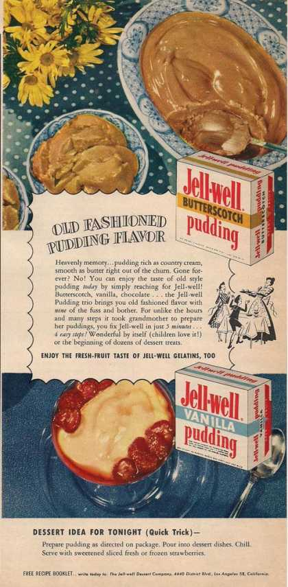 Jell Well Pudding Mix (1951)
