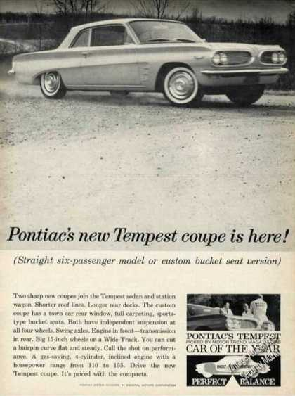 Pontiac New Tempest Coupe Car (1961)