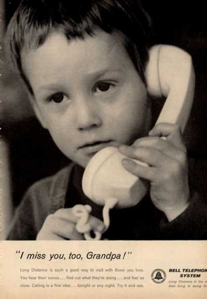 Bell Telephone Phone I Miss You Too Grandpa (1964)
