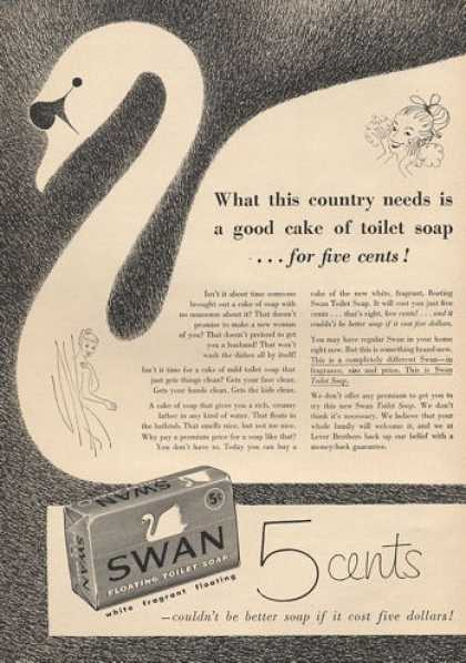 Swan 5 Cent Toilet Soap (1953)