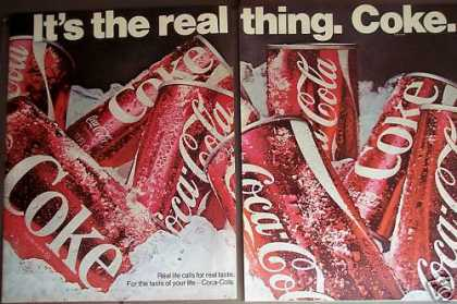 Coke Soda Coca-cola It's the Real Thing (1970)