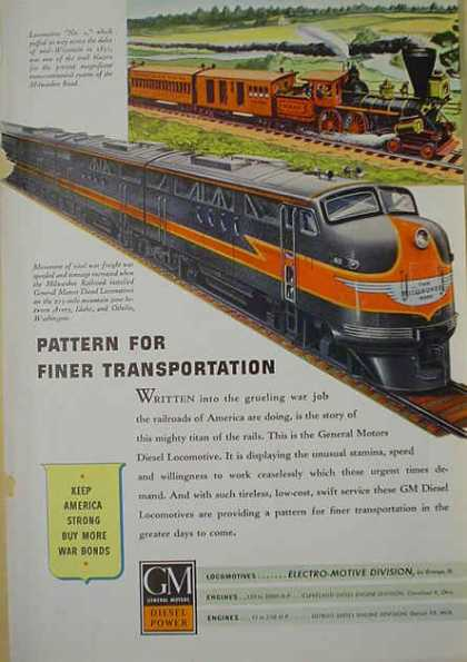 GM Diesel Milwaukee Rail line Electro Motive Division (1941)