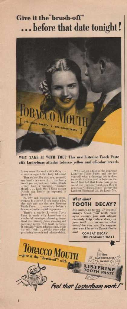 Listerine Tooth Paste (1949)