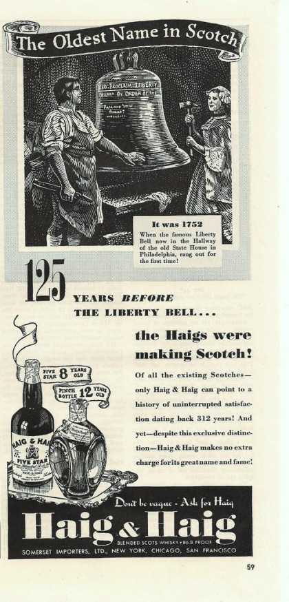 The Oldest Name In Scotch Haig & Haig (1939)