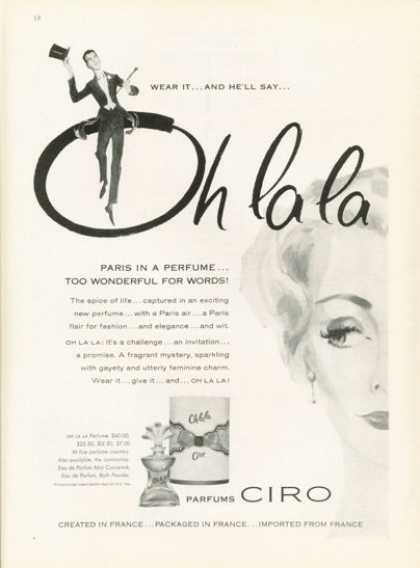 Ciro Oh La La French Perfume Bottle (1959)