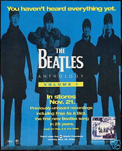 The Beatles Anthology Vol 1 Record Promo (1995)