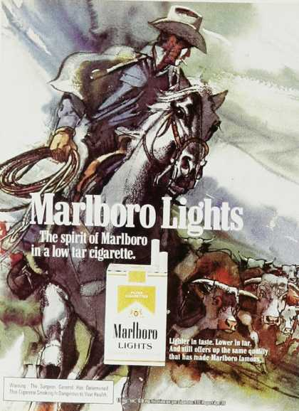 Marlboro Lights – Lighter in taste.