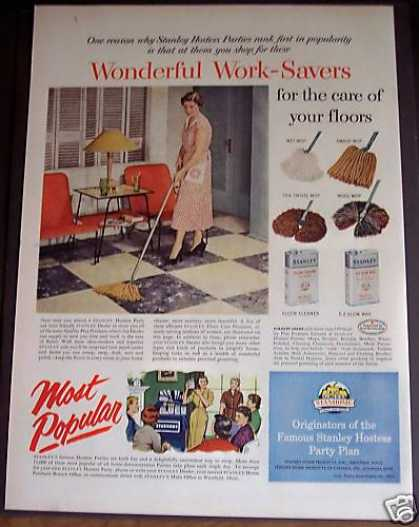 Stanley Floor Cleaner E-z Glow Wax (1954)