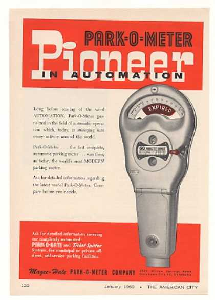 Magee-Hale Park-O-Meter Automatic Parking Meter (1960)