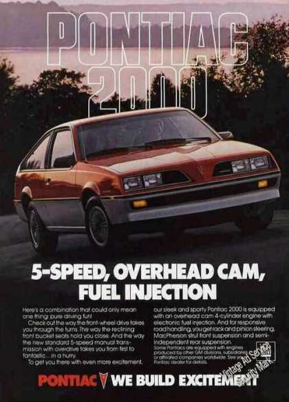 Pontiac 2000 5-speed Overhead Cam Photo (1983)