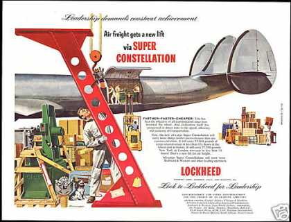Lockheed Super Constellation Airplane Art (1953)
