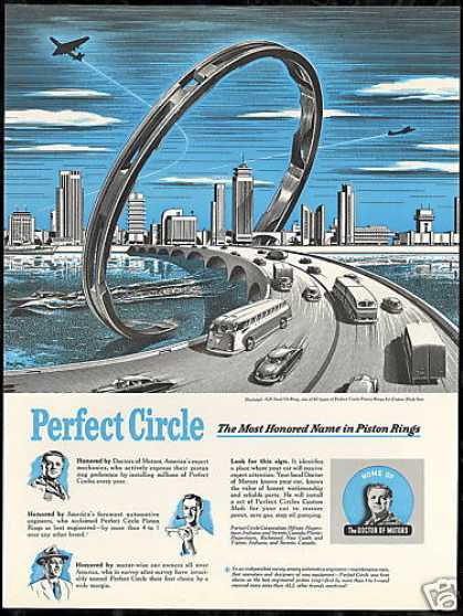 City Bridge Art Perfect Circle Piston Rings (1950)