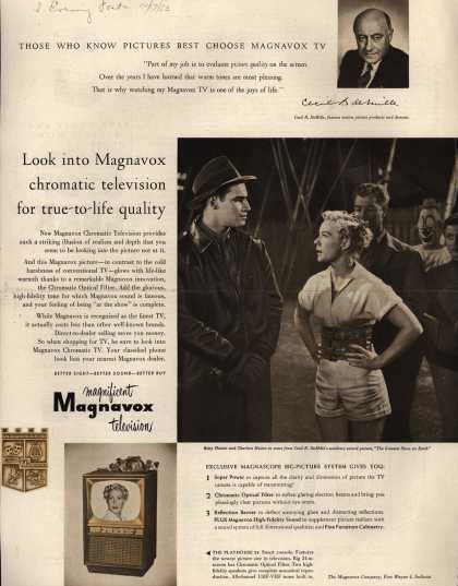 Magnavox Company's Chromatic Television – Look into Magnavox chromatic television for true-to-life quality (1953)
