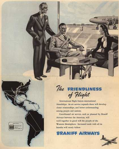 Braniff Airways – The Friendliness of Flight (1945)