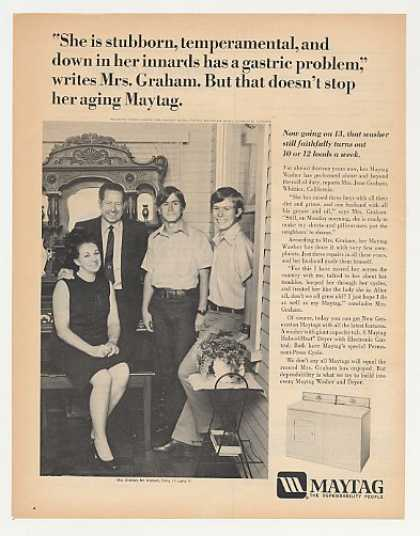&#8217;72 Mrs Jean Graham Family Whittier CA Maytag Washer (1972)