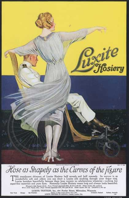 Luxite, Womens Hosiery Stockings Nylons, USA (1910)