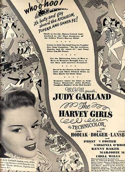 The Harvey Girls (Judy Garland, John Hodiak, Ray Bolger and Angela Lansbury) (1945)