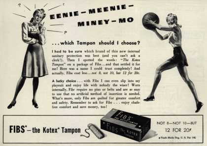 Kotex Company's FIBS, The Kotex Tampon – Eenie-Meenie-Miney-Mo (1941)