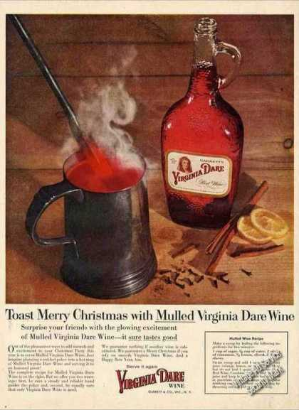 Virginia Dare W/mulled Wine Recipe (1955)