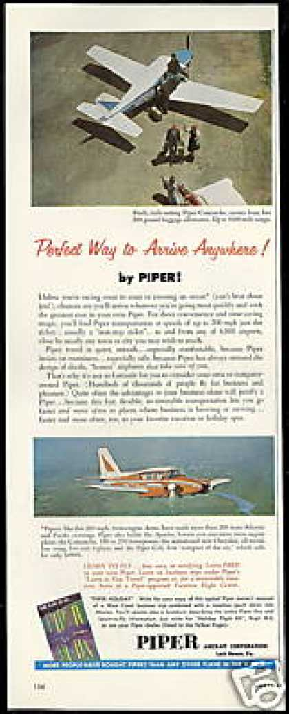 Piper Comanche & Aztec Airplane Photo Vintage (1961)