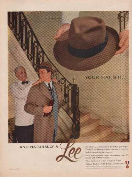 """Your Hat Sir"" Lee Mens Dress Hat (1951)"