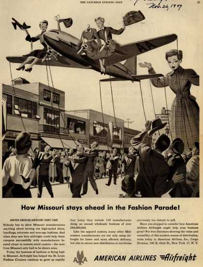American Airlines – How Missouri Stays Ahead in the Fashion Parade (1949)