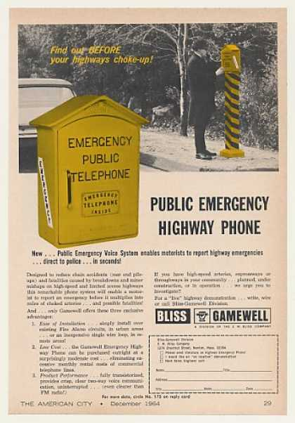 Bliss Gamewell Public Emergency Highway Phone (1964)