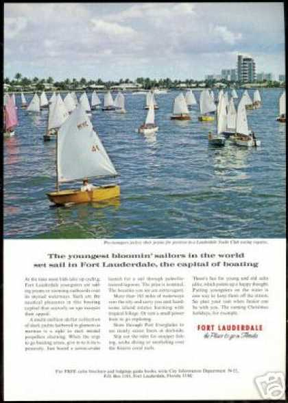 Florida Travel Lauderdale Yacht Club Sailboat (1970)