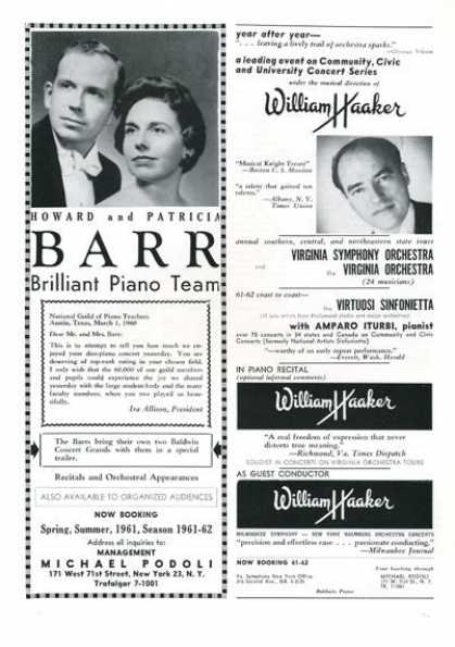 Booking Ad Howard Patricia Barr William Haaker (1961)