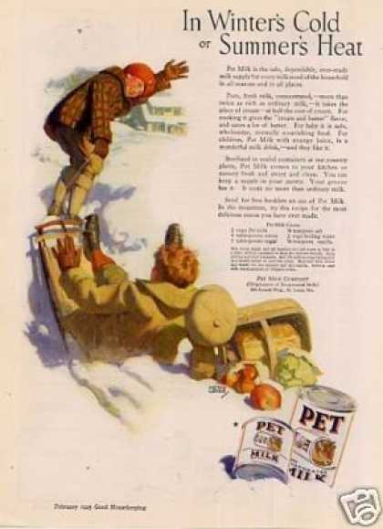 "Pet Milk Ad ""In Winter's Cold... (1925)"