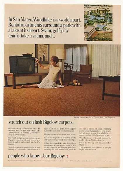 Woodlake Apartments San Mateo CA Bigelow Carpet (1965)