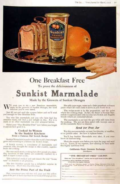 Sunkist Orange Marmalade (1919)
