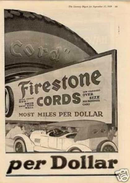 Firestone Tire Ad 2 Page (1919)