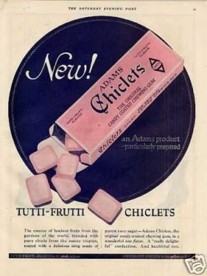 Adams Chiclets Chewing Gum (1921)