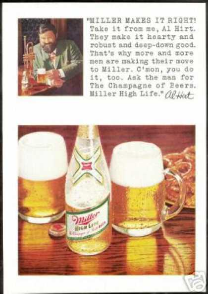 Al Hirt Photo Miller High Life Beer Vintage (1969)