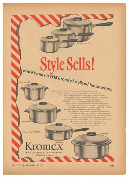 Kromex Kitchenware Pans (1946)