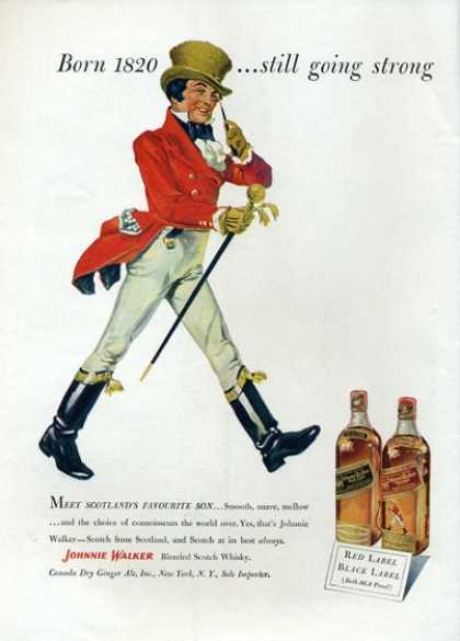 Johnnie Walker Whisky Bottle (1952)