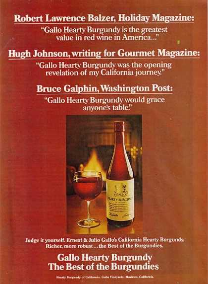 Gallo's Hearty Burgundy Wine (1975)