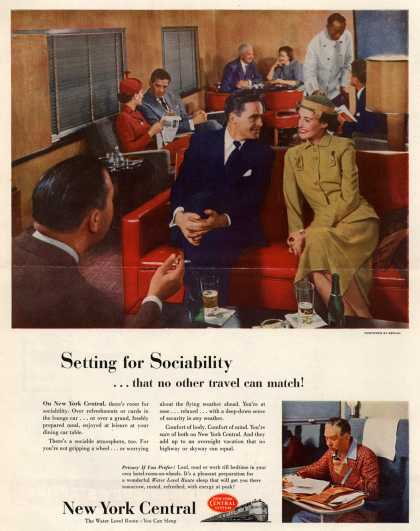 New York Central System – Setting for Sociability...that no other travel can match (1952)
