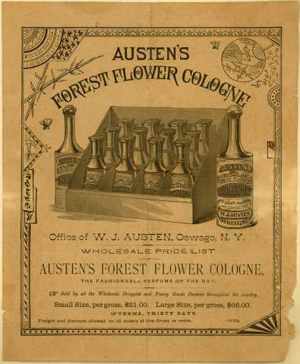 W. J. Austen's cologne – Austen's Forest Flower Cologne