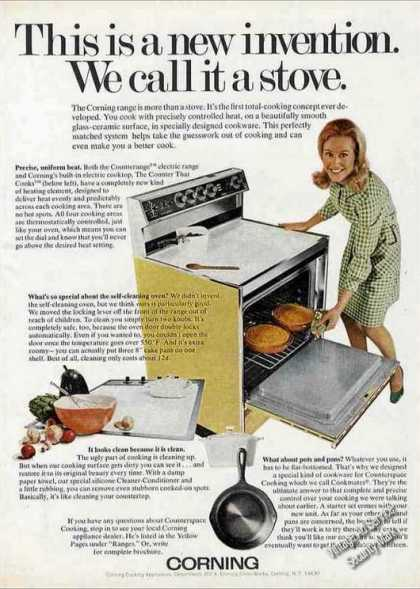 Corning &quot;We Call It a Stove&quot; New Invention (1971)