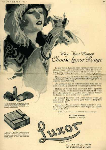Luxor Limited's rouge – Why Most Women Choose Luxor Rouge (1923)