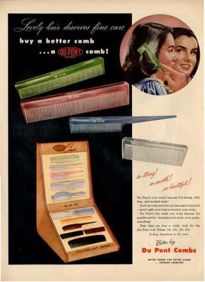Du Pont Combs Hair Style Comb Set Ad T (1948)
