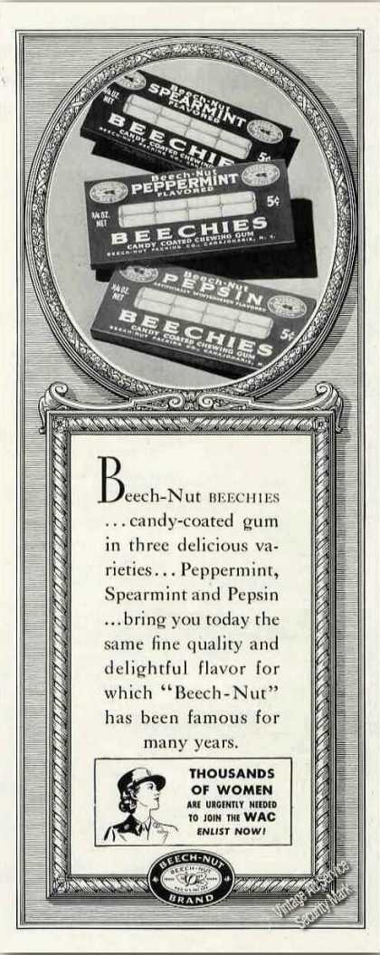 Beech-nut Beechies Antique Candy Coated Gum (1944)