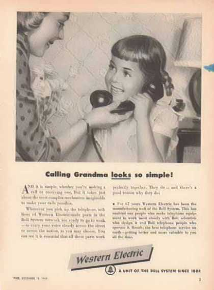 Western Electric Bell System – Calling Grandma looks so simple (1949)