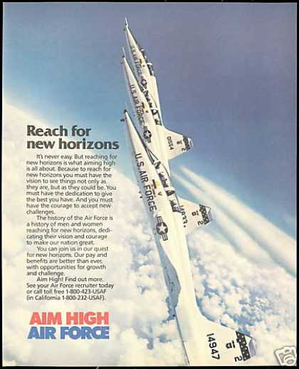 U.S Air Force Jet Photo Recruiting Vintage (1986)
