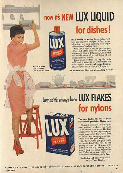 Lux&#8217;s Liquid Detergent for Dishes (1954)