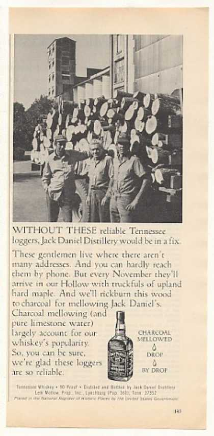 Jack Daniel's Whiskey Tennessee Loggers Photo (1977)