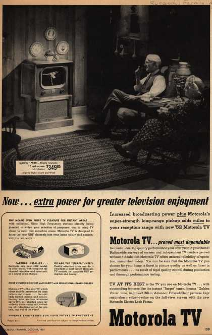 Motorola – Now... extra power for greater television enjoyment (1951)