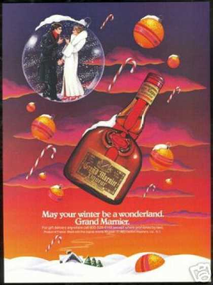Grand Marnier Liqueur Winter Wonderland (1984)
